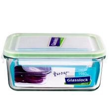 京东超市 Glasslock韩国进口钢化玻璃保鲜盒耐热微波炉饭盒 MCRB110/1980ml