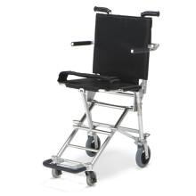 中进日本NAH-207航钛铝合金老人轮椅老年人代步车折叠轻便超轻飞机高铁旅行小轮旅游手推车可登机 高雅黑 40厘米坐宽