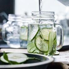 朵颐 创意利比大容量公鸡杯带盖 玻璃透明果汁杯办公室水杯