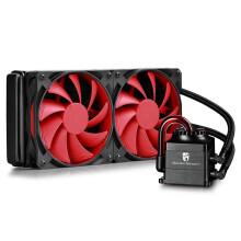 九州风神(DEEPCOOL)船长 240 CPU水冷散热器(呼吸灯效/支持多平台)黑红