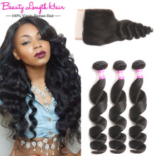 Beauty length hair official jd brazilian virgin hair loose wave with closure beauty length hair virgin brazilian loose curly hair weave pmusecretfo Images
