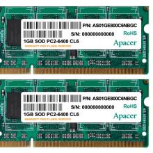 宇瞻(Apacer) 经典 DDR2 800 1G 笔记本内存