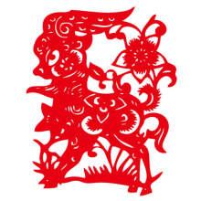 个性一百 神气羊羊fck1160剪纸窗花纸福字春节贴纸动物装饰羊年不干胶