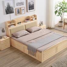 智佳皮床1.5 1.8  米简约软包皮床 真皮双人床 1.5米1.8米双人实木框架床 1..5床定做定金