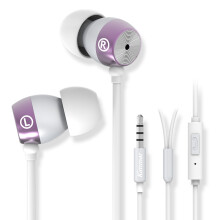 KIMMAR  重低音金属入耳式手机耳机 带麦克风 话筒 可手机K歌 手机通用 高贵紫-250