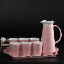 長城世家 陶瓷冷水壺套裝  涼水壺 水具套裝8件套裝 杯子杯具套裝耐熱 陶瓷水杯水壺套裝