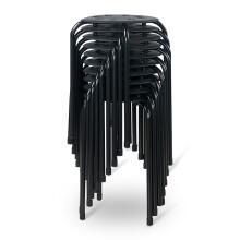 好事达凳子 灵秀八孔套凳(黑色)10只优惠装 2281