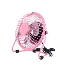 乾越(qianyue)电脑桌面usb迷你小风扇4寸迷你低音办公室风扇电扇家用风扇 魅力粉