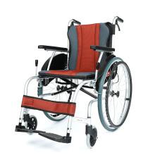 中进 轮椅车折叠轻便便捷老年人手推车代步老人残疾人手推轮椅手动助力脚踏大轮NA-416 Z NA-416酱红色