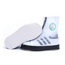 回力 雨鞋套男女成人款雨天防水防滑加厚鞋套 HXL228 黑色 2XL