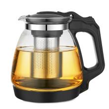 紫丁香 玻璃泡茶壶 加厚耐热 过滤花茶水壶防撞底保护耐用办公功夫茶杯玻璃茶具1700ml
