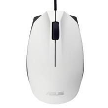 华硕(ASUS)UT280 人体工学红光有线鼠标 白色