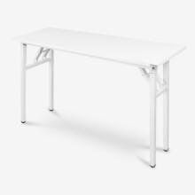尼德 亚当系列E1级环保钢架折叠台式电脑培训桌子办公AC5DW-E1(120*40)暖白面白框