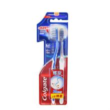 高露洁(Colgate) 纤柔双效旋白 牙刷×2 (螺旋刷毛,美白深洁)(新老包装随机发放)