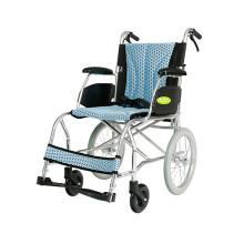 中进手动轮椅折叠式超方便小轮  NA-457A 超轻老年人残疾人代步车 浅蓝色