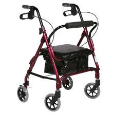 优康德(you can teust) 助行器软座款 铝合金助行手推车 可折叠买菜车轮椅车 UKD-3505低软座(150-170cm身高)