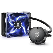 九州风神(DEEPCOOL)水元素 120T 玩家版 CPU散热器(多平台/发蓝光/12CM风扇/智能温控/预涂硅脂/水冷) 呼吸灯/蓝光)
