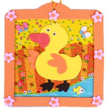 相框 幼儿园儿童贴画手工diy制作材料包3d立体贴纸粘贴画 小鸭图片