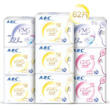 ABC纤薄绵柔无黏腻卫生巾8包组合送1包(日40片+夜16片+加长夜3片送3片 新旧包装随机发货)