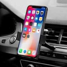 铁摩图 车载手机支架 汽车出风口 黑色 适用苹果安卓手机导航设备