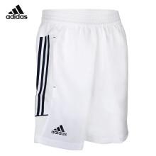 阿迪达斯adidas 运动短裤男款 网羽球服 休闲跑步短裤 羽毛球短裤 S27881 XXL码 白色