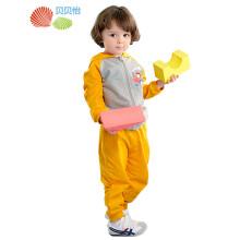贝贝怡 儿童套装连帽卡通童装男女童时尚连帽外出服2件套 163T031 橙色 73cm