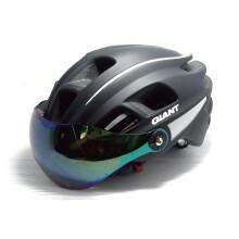 捷安特G1671护目镜大空间大通风孔一体成型自行车头盔 黑色 M/L(适合头围 54-58CM)