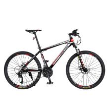 永久27变速自行车山地车双碟刹铝合金车圈男女式学生越野单车 T11 黑红色
