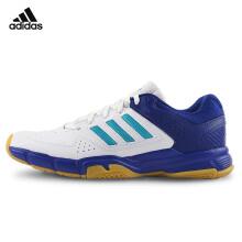阿迪达斯adidas 运动鞋男款 休闲跑步 网羽球鞋 羽毛球鞋 蓝白色 BY1817 44码/10