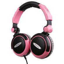 iSK AT5000 专业监听耳机 粉色 炫彩、可折叠耳机