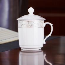 京东超市洁雅杰陶瓷茶杯 带盖水杯子(350ml)陶瓷茶杯陶瓷办公杯 中华杯