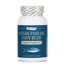 美国 HealKeen 进口深海鱼油 可欧米伽3鱼油软胶囊60粒 60粒鱼油 1瓶装