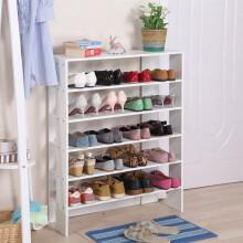 美达斯 鞋架 简易木质收纳架 多层鞋柜 六层白色 13236