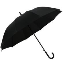 京东超市 天堂伞 加大加固70cm*10骨直杆自开晴雨伞193E碰升级版黑色
