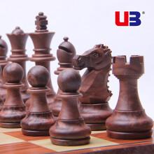 桌飞(UB) 友邦(UB)国际象棋儿童成人西洋木塑带磁性可折叠培训教学套装 2720L(M号)