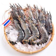 海外直采 活冻泰国黑虎虾 400g 盒装 16-20只 原装进口 泰国皇家冷冻(TRF)