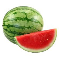 源枝园味 海南无籽西瓜 1个装 单重约5kg 新鲜水果