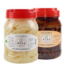 安徽 铜陵生姜 白姜 泡姜 每罐1000g 好吃的特产 酱汁姜*1罐+醋泡白姜*1罐