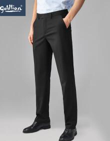 金利来男士穿着舒适修身合体简约商务西裤长裤黑色30