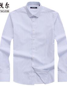 雅戈尔 衬衫男士 2019秋季青年男休闲正装衬衫 GLDP119936IFY 浅蓝 42