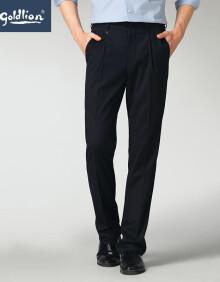 金利来2020春夏新款男士穿着舒适单褶商务正装西裤长裤 藏蓝 31