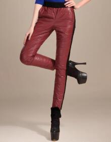 PU皮显瘦小脚裤子 5 红色 165 88A L 在 京东 的历史价格走势图 盒子