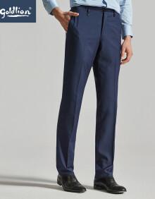 金利来 Goldlion 男士时尚修身合体简约商务西裤男长裤