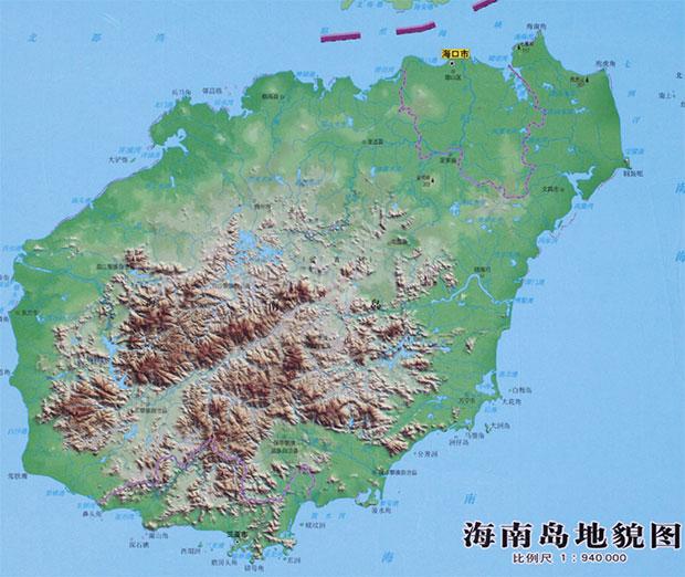 海南省地图高清版大图