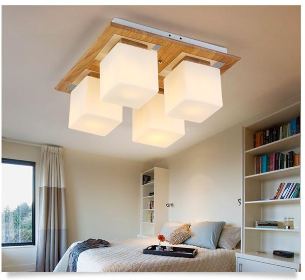 现代led吸顶灯客厅灯个性时尚卧室餐厅灯书房艺术顶灯长方形中式实木图片