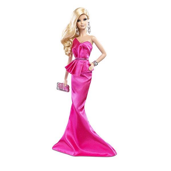 芭比(barbie)粉色造型时尚bcp89,限量珍藏版芭比娃娃v粉色中积木法图片