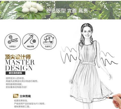 夏季服装系列效果图手绘