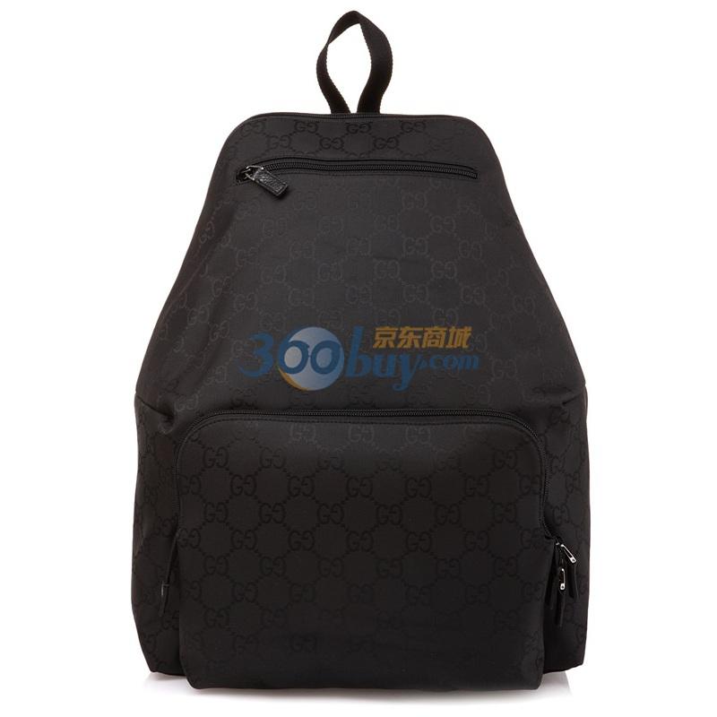 gucci 古驰 黑色织物男款双肩背包179606f869n1000 kt图片
