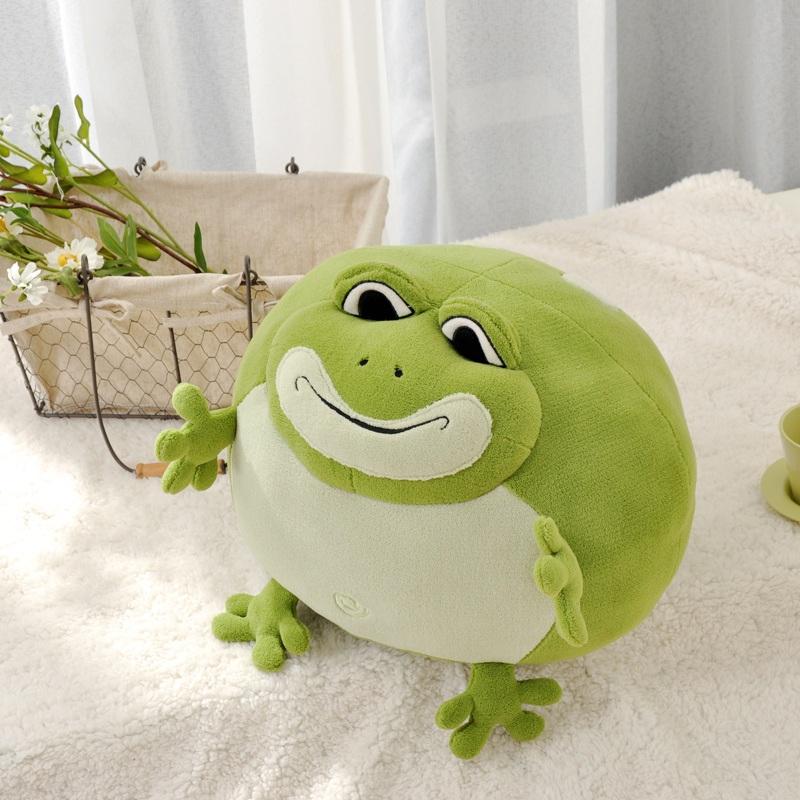 easever 绎·生活 卡通动物系列 青蛙豆子袋 家居摆件