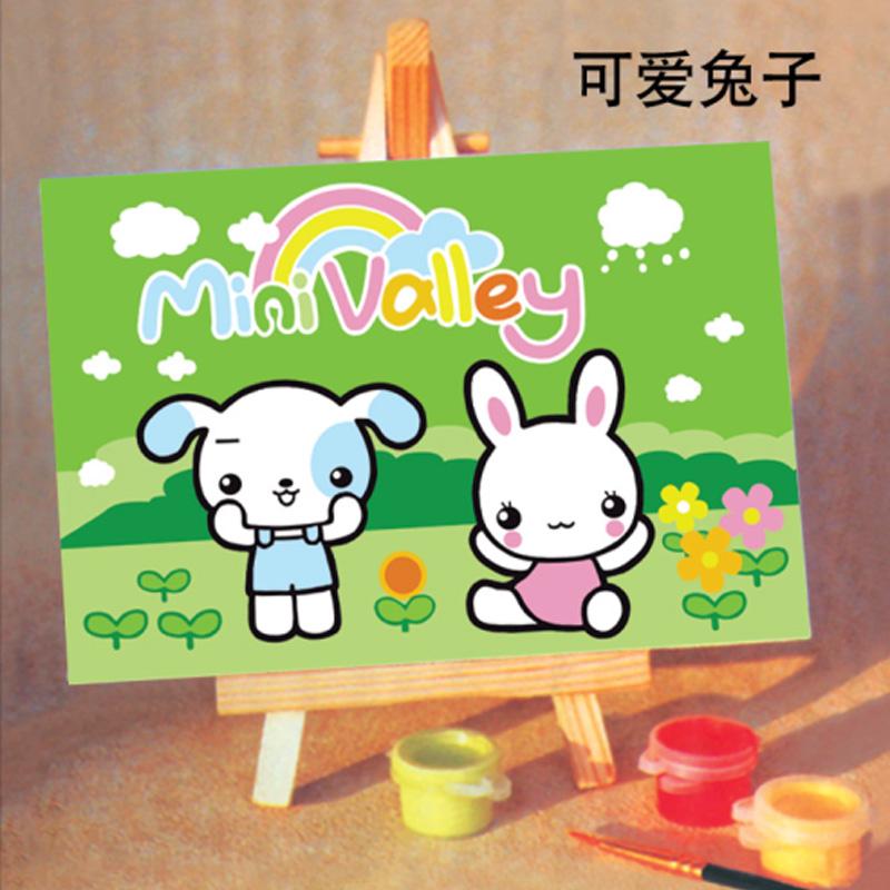 恋美diy数字油画 自助动物油画 卡通油画 手绘数字画
